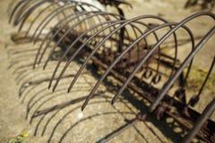 Rusted Farm Rake Stock Photos