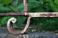 Rusted fence. Detail from a old rusted fence Royalty Free Stock Photo
