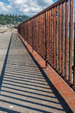 Rusted Fence Closeup Royalty Free Stock Photos