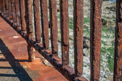 Rusted Fence Closeup Stock Image