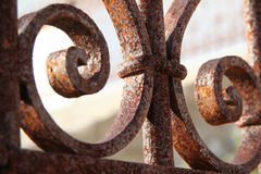 Rusted fence. A rusted fence detail in Fira Town Santorini Island Greece Stock Image