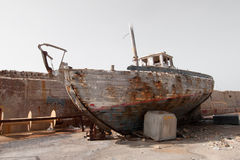 Rusted Fischerboot Stockbilder