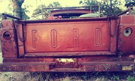 Rusted Ford royalty free stock images