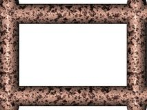 Rusted frame. 3d generated old frame with nice abstract pattern Stock Images