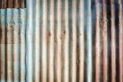 Rusted a galvanisé le plat de fer photographie stock