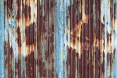 Rusted a galvanisé le plat de fer illustration de vecteur