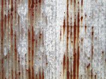 Rusted galvaniserade järnplattan Royaltyfri Bild