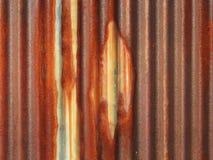 Rusted galvanisierte Dachplatte Lizenzfreies Stockbild