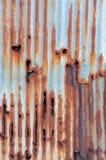Rusted galvanisierte Eisenblatt Lizenzfreie Stockbilder