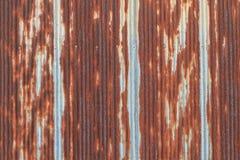 Rusted galvanisierte Eisendachplatte Lizenzfreies Stockbild