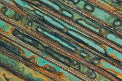 Rusted galvanisierte Eisenplatte Stockbild