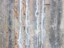 Rusted galvanisierte Eisenplatte Lizenzfreies Stockfoto