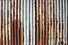 Rusted galvanisierte Eisenplatte Lizenzfreie Stockbilder