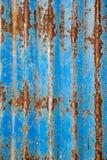 Rusted galvanisierte Eisenplatte Musterschmutzart Lizenzfreies Stockfoto