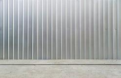Rusted galvanisierte Eisenplatte und Raumhintergrund Stockfotografie