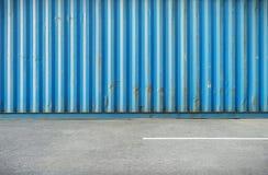 Rusted galvanisierte Eisenplatte und Raumhintergrund Lizenzfreie Stockfotos