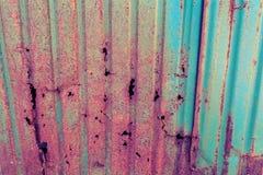 Rusted galvanisierte Eisenplatten-Schmutzbeschaffenheit Lizenzfreie Stockfotografie
