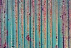 Rusted galvanisierte Eisenplatten-Schmutzbeschaffenheit Stockbilder