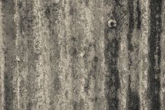 Rusted galvanisierte von der Eisenplatte, der alte Zinkrost, der für Rückseite gemasert wurde Lizenzfreie Stockfotografie