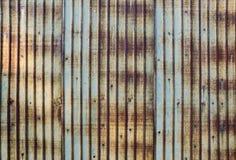 Rusted galvanizó la placa del hierro Foto de archivo