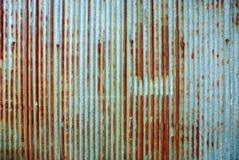 Rusted galvanizó la placa del hierro ilustración del vector