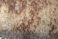 Rusted, galvanized, corrugated metal texture, grunge background royalty free stock photography