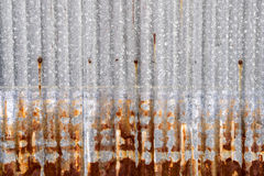 Rusted galvanized iron plate. A Rusted galvanized iron plate Royalty Free Stock Photography