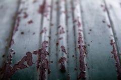 Rusted galvanized iron plate Stock Image