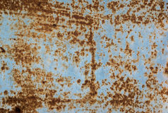 Rusted galvanized iron plate Royalty Free Stock Images