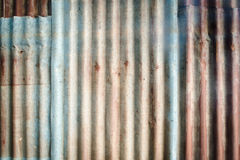 Rusted galvanized iron plate Stock Photography