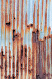 Rusted galvanized iron sheet Royalty Free Stock Images