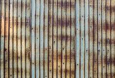 Rusted galvanizou a placa do ferro Foto de Stock
