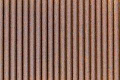 Rusted galvanizou a placa do ferro Fotografia de Stock
