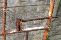 A Rusted Gate Latch stock photo