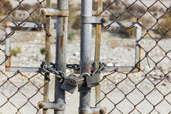 Rusted Gate Lock Royalty Free Stock Photography
