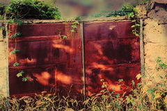 The rusted gate. Royalty Free Stock Photography
