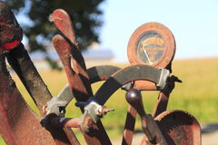 Rusted Gauge on Old Machinery Royalty Free Stock Photo