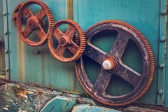 Rusted gear wheels Stock Images