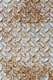 Rusted gray diamond metal plate Stock Photo