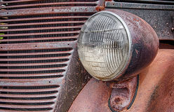 Rusted Grill and Headlight Royalty Free Stock Image
