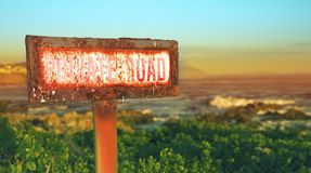Rusted grunge metal sign Royalty Free Stock Photo