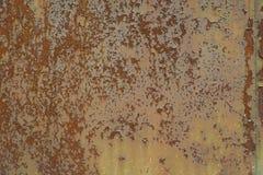 Rusted ha corroso la struttura del fondo del metallo Fotografia Stock Libera da Diritti
