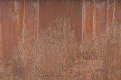 Rusted ha corroso la struttura del fondo del metallo Fotografie Stock