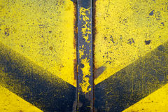 Rusted ha dipinto i piatti di metallo Immagine Stock Libera da Diritti