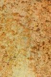 Rusted ha dipinto la parete del metallo Il fondo arrugginito del metallo con le strisce di ruggine la superficie di metallo ha ar Immagini Stock