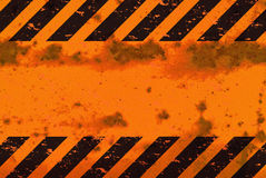 Rusted Hazard Stripes Sign Stock Photography