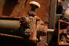 Rusted industrial equipment Stock Images