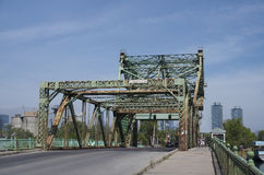 Rusted iron bridge in Toronto Royalty Free Stock Photos