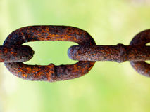 Rusted iron chain Stock Images