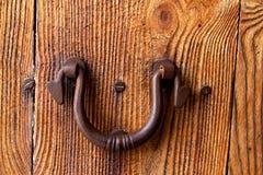 Rusted iron door handle Royalty Free Stock Photos
